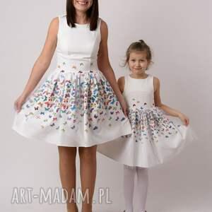 białe ubranka tiul sukienka dziecięca mariposa