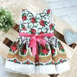 32fa00fb38 sukienka góralska dziecięca cleo 98 104 folkowa - folky