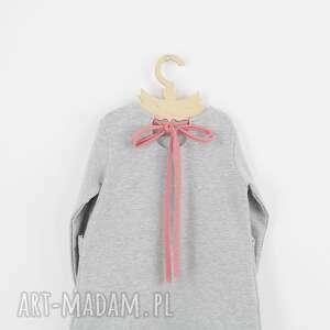 awangardowe ubranka opaska sukienka krolik z szara