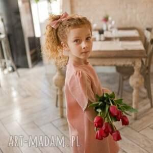 nietypowe ubranka lnianasukienka sukienka little tulip