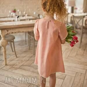 ubranka łososiowasukienka sukienka little tulip