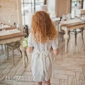 kremowasukienka ubranka sukienka melanie