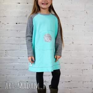 turkusowe ubranka sukienka mięta