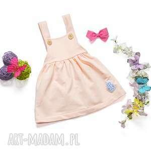 szelki ubranka sukienka ogrodniczka łosoś 62-98