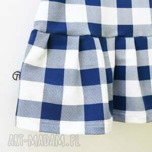 niebieskie ubranka sukienka w kratę