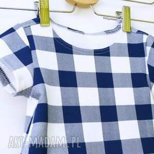 kraciasta ubranka sukienka w kratę