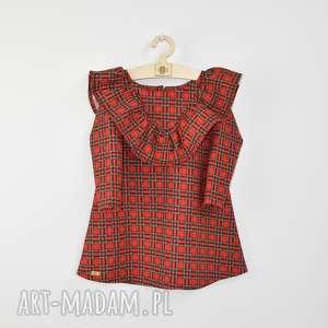 pomysł na prezenty świąteczne wkrate sukienka z falbana w kratke