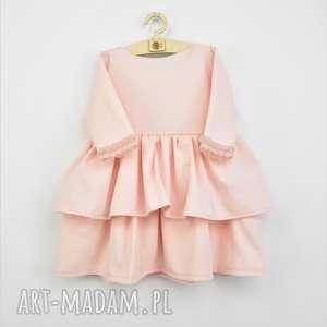 sukienka dziewczęca z miękkiej matowej lekko elastycznej