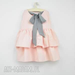 intrygujące sukienka dziewczęca z falbanami