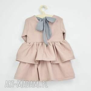 sukienka w-falbanki różowe z falbanami