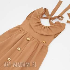hand made mamaicorka sukienka z guziczkami i kokarda