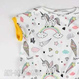 ubranka dziecko sukienka z jednorożcem