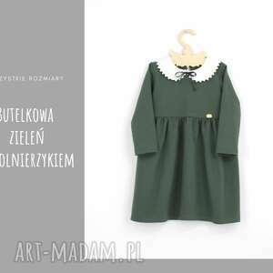 niepowtarzalne ubranka butelkowa sukienka z kolnierzykiem