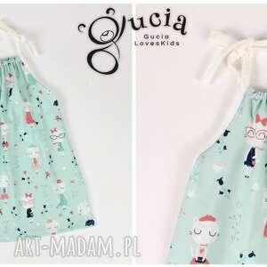 kotki ubranka sukienka z kotkami