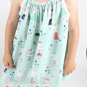 ręcznie wykonane ubranka sukienka z kotkami