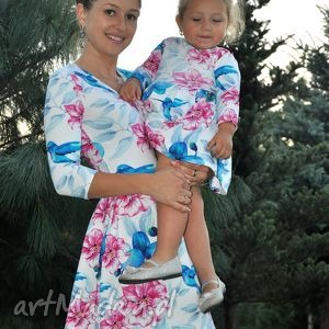 kolorowe ubranka koliber sukienki dla mamy i córki