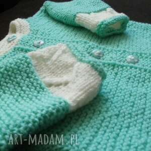 włóczka sweterek miętusek