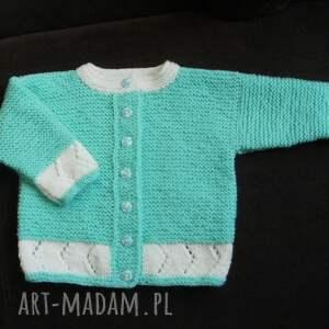 Sweterek Miętusek - cieplutki włóczka