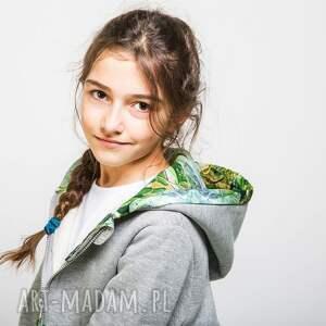 awangardowe bluza do przedszkola szara z kapturem jungle 110