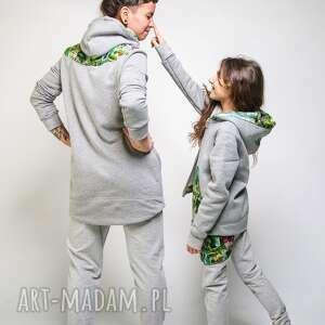 bluza do przedszkola szara z kapturem jungle 110
