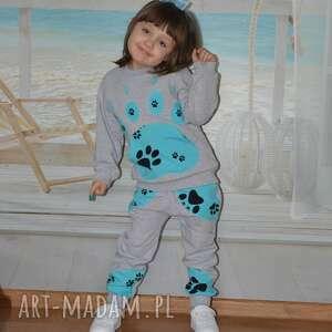 sopdnie-bawełniane ubranka turkusowe szare bawełniane spodnie, dresowe