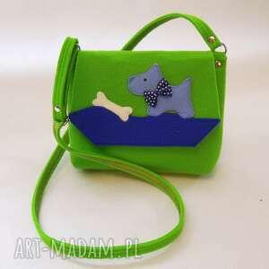 zielone filc torebka z filcu dla dziewczynki