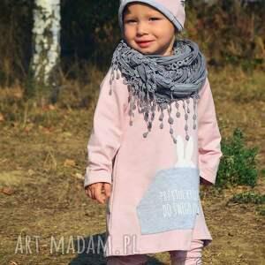 ubranka tunik tunika różowa dla dziewczynki a