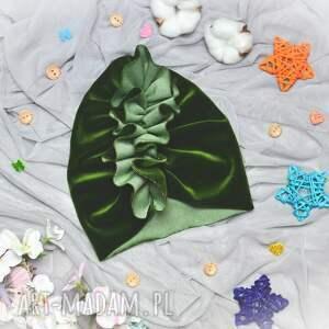turbanvelvet turban velvet zielony