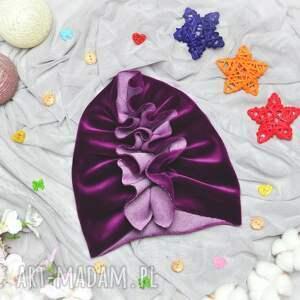 ręczne wykonanie turban velvet fiolet