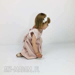 ubranka sukienka pastelowy brudny roz z