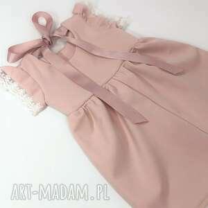modne ubranka sukienka pastelowy brudny roz