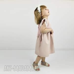 koronka ubranka różowe sukienka pastelowy brudny roz z