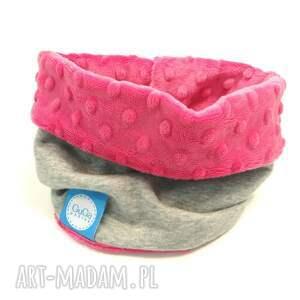 ręcznie zrobione ubranka komin zestaw z czapką minky