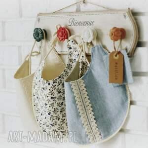 hand-made ubranka śliniak zestaw śliniaków niebieskie