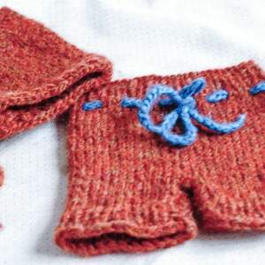 ręcznie wykonane newborn zestaw szorty i czapeczka