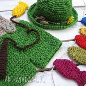 zielone ubranka seja zestaw szydełkowy na sesję
