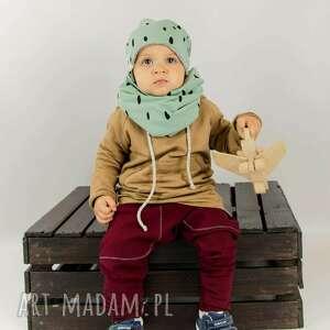 turkusowe czapka zimowa spots