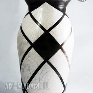 wazony ceramika wazon raku biało czarny