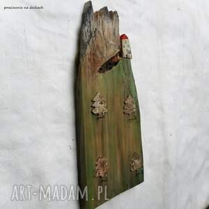 domek z górami - wieszak rustykalny