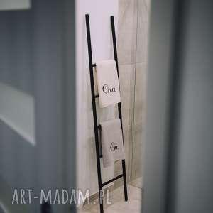 niesztampowe wieszaki drabina drabinka ozdobna do łazienki /