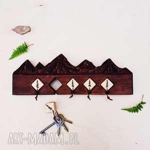 wieszaki góry drewniany wieszak na klucze