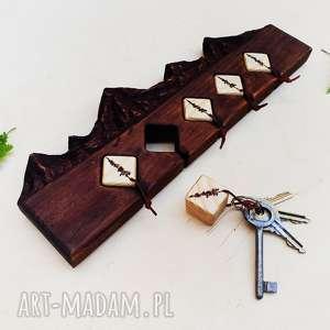 brązowe wieszaki góry drewniany wieszak na klucze