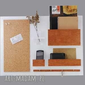 wyjątkowe wieszaki organizer - 63x45 cm, drewniany