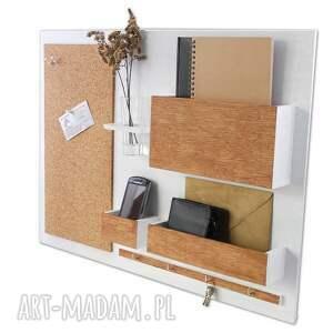 ścienny wieszaki organizer - 63x45 cm, drewniany