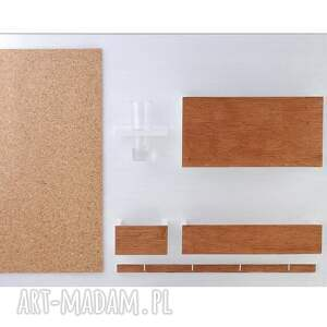 wieszaki ścienny organizer - 63x45 cm, drewniany