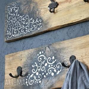 drewno wieszaki brązowe ścienne loft