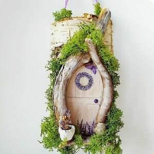 fioletowe wieszaki lawenda wieszak w stylu prowansalskim