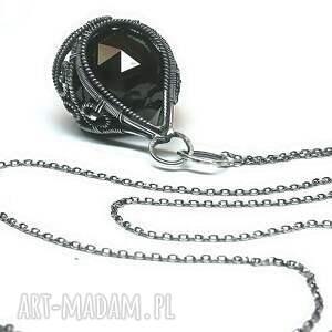 wisiorki swarovski black-kryształ