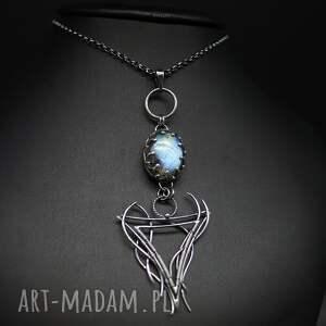 niebieskie wisiorki srebro blask labradorytu - wisior allia