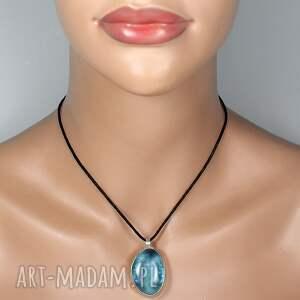 wisior wisiorki błękit w srebrze - srebrny
